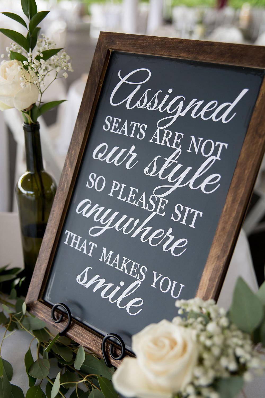 wedding reception details at Heron Hill Winery Keuka Finger Lakes NY