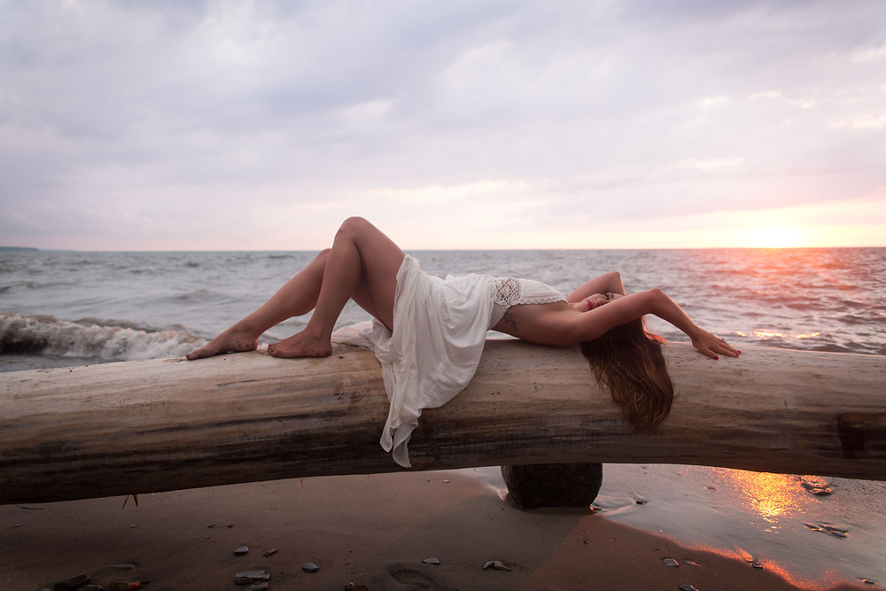 hamburg beach new york Beach Babe boudoir session lake erie