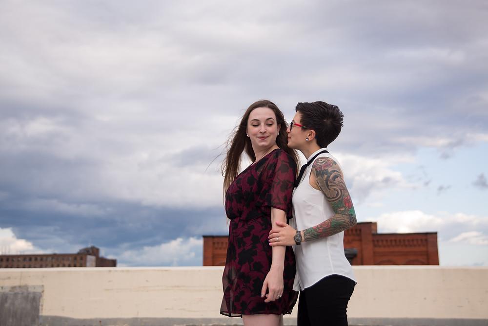 couples engagement photo same sex wedding photographer Buffalo NY