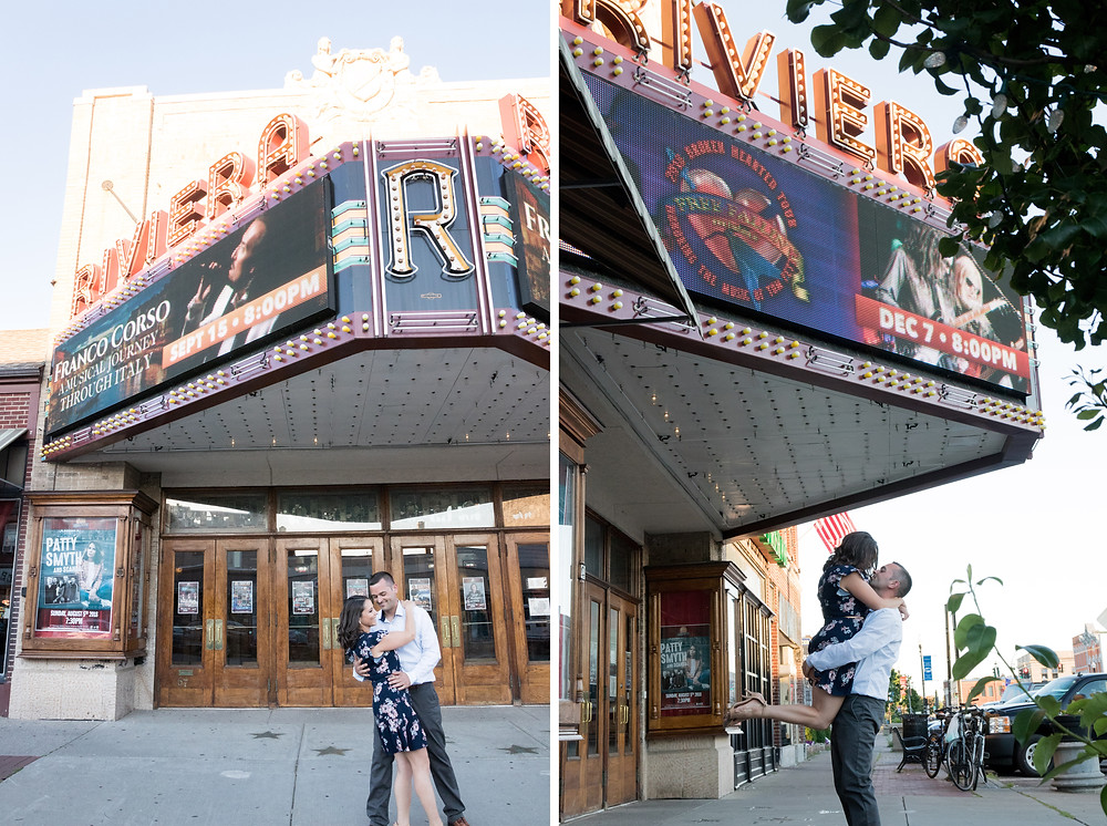 Riviera Theater Tonawanda Engagement Portrait Photography
