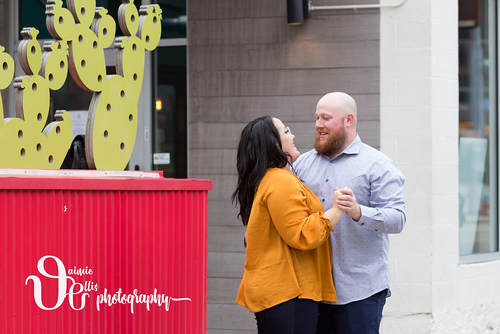 Deep South Taco downtown Buffalo engagement photos