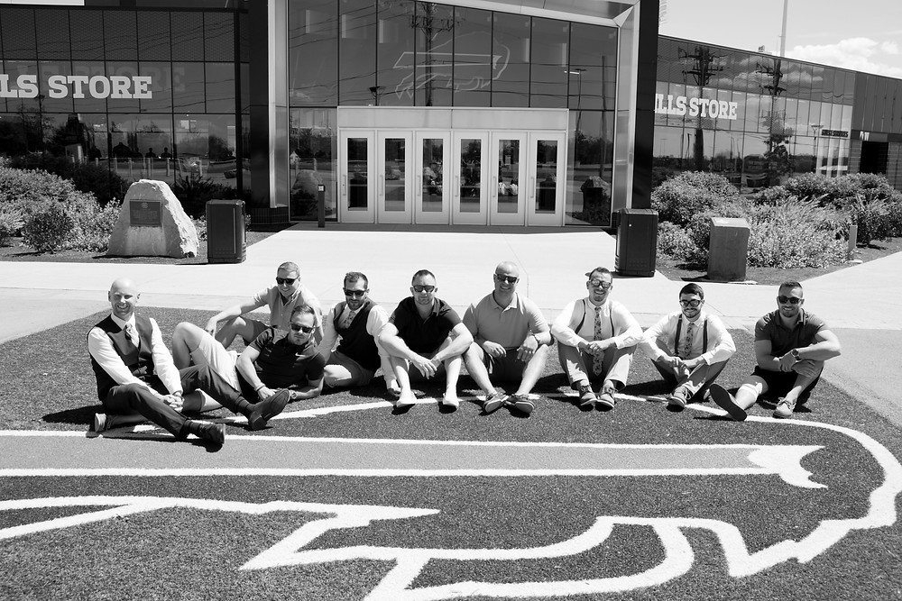 groomsmen Buffalo Bills new era football field
