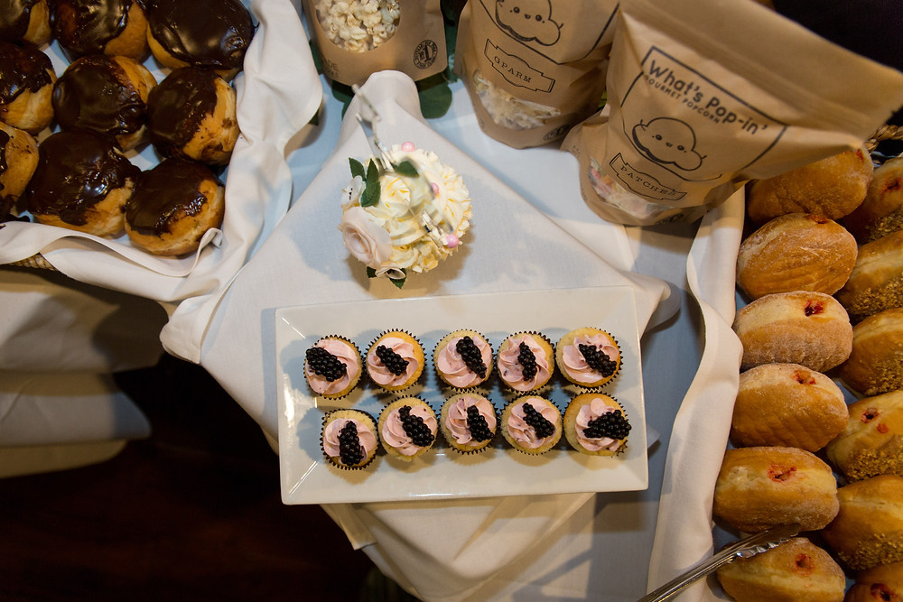 wedding dessert table by Baby Cakes Cupcakery at Buffalo's Pearl St Grill