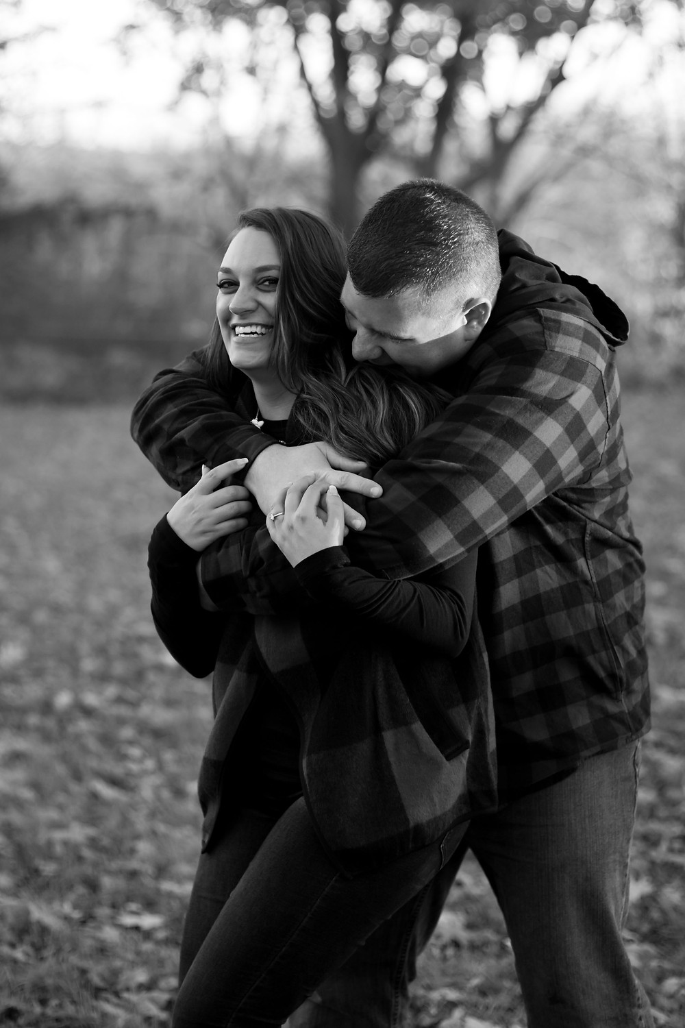 Geneseo NY fall couples engagement photo candid documentary intimate photography