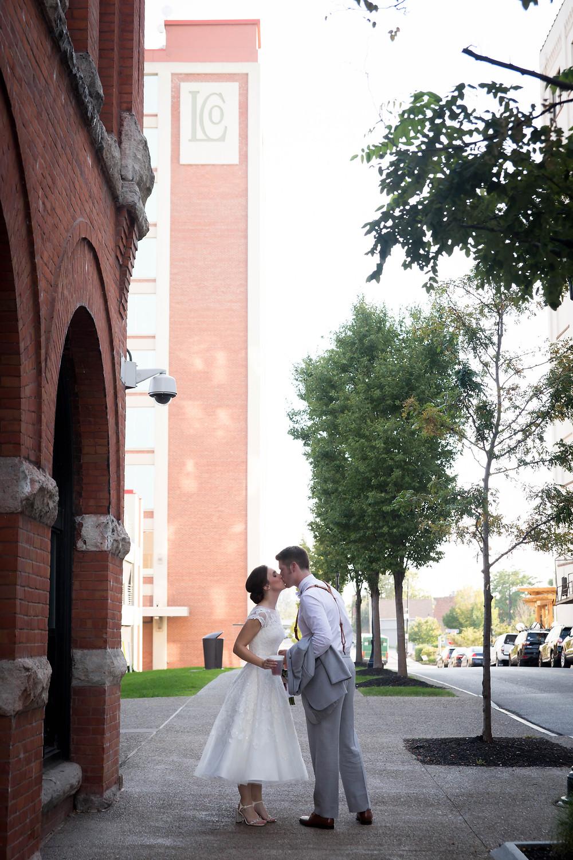 Larkinville Buffalo NY Larkin Wedding Bride and Groom Photo