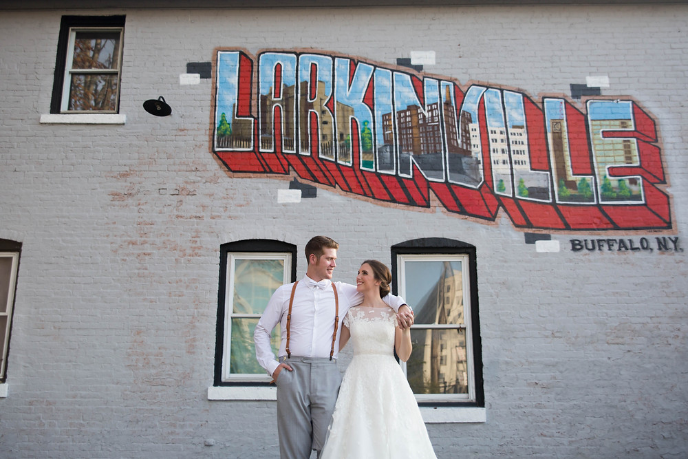 Larkinville Buffalo NY Larkin Wedding Bride and Groom Photo