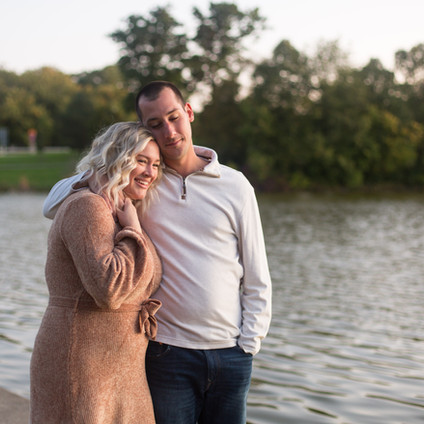 Morgan & Anthony's Sunrise Engagement Session | Delaware Park & University at Buffalo