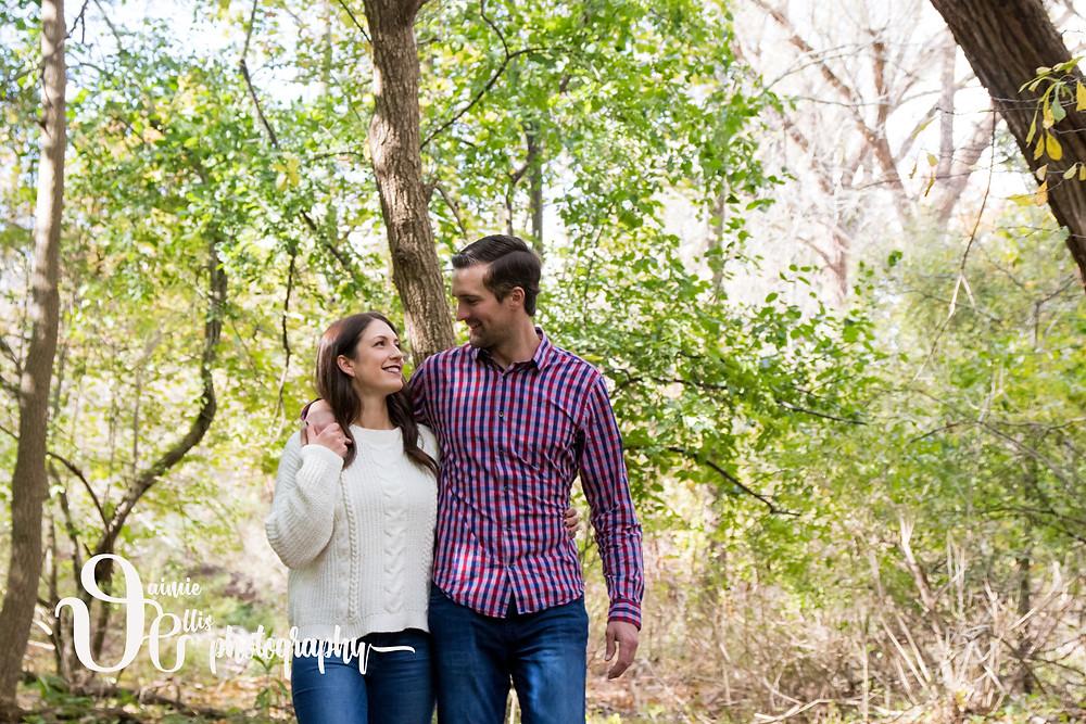 Glen Falls Park Williamsville Engagement Portrait Photo