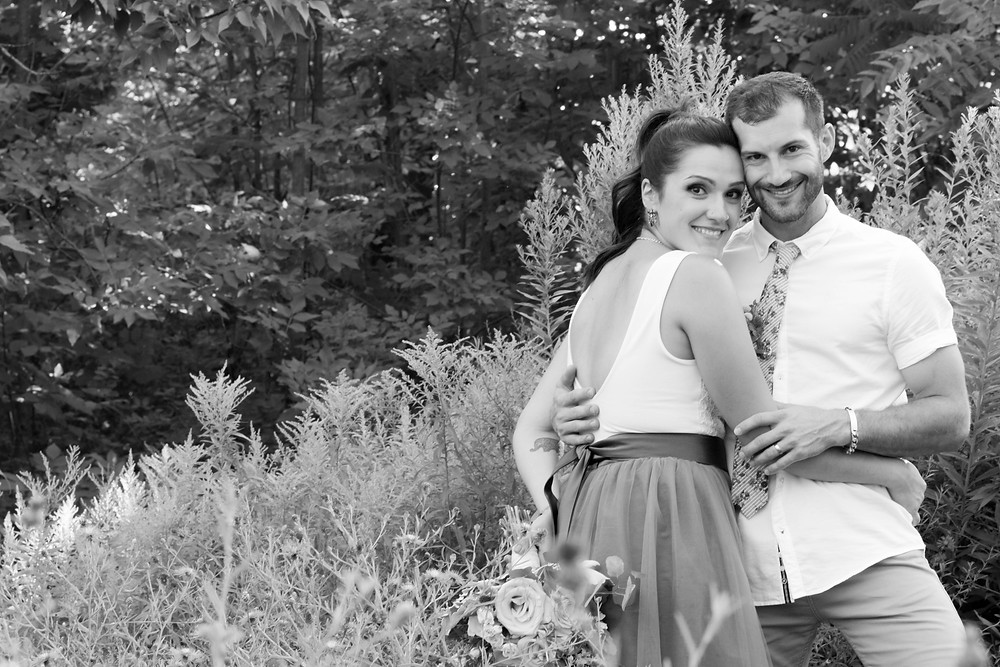 backyard wedding orchard park ny wildflower bride groom portrait photography