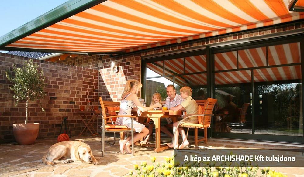 Szerethető, komfortos, kültéri életterek napellenzővel