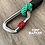 Helix DNA climbing rope dog leash carabiner