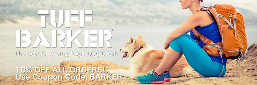 Tuff Barker -  Best Climbing Rope Dog Leash - Rope Dog Leashes and Dog Leads