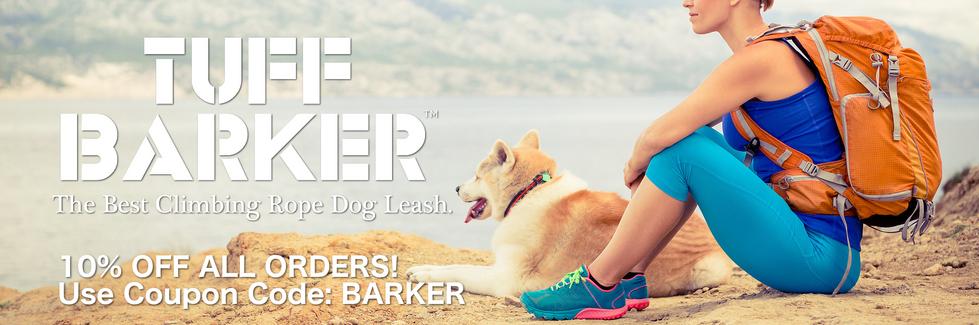 Tuff Barker -  Best Climbing Rope Dog Leash - Rope Dog Leash and Dog Leads