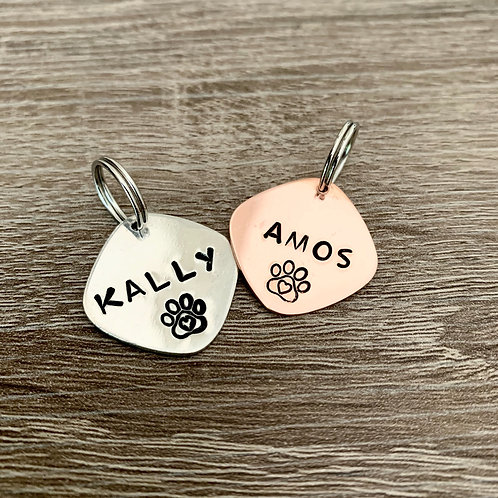 Custom Hand Stamped Pet ID Tags