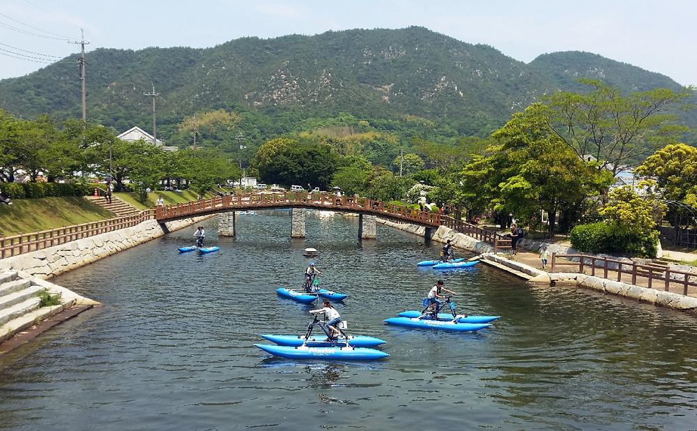 Water bikes!