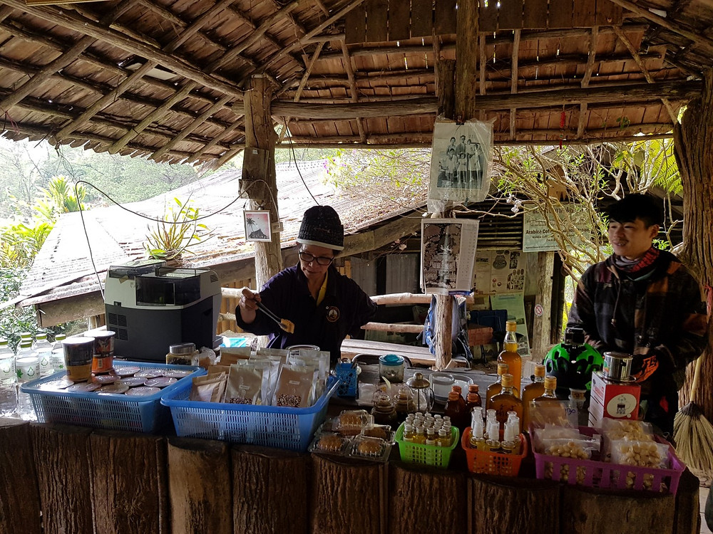 Cafe at a local coffee plantation