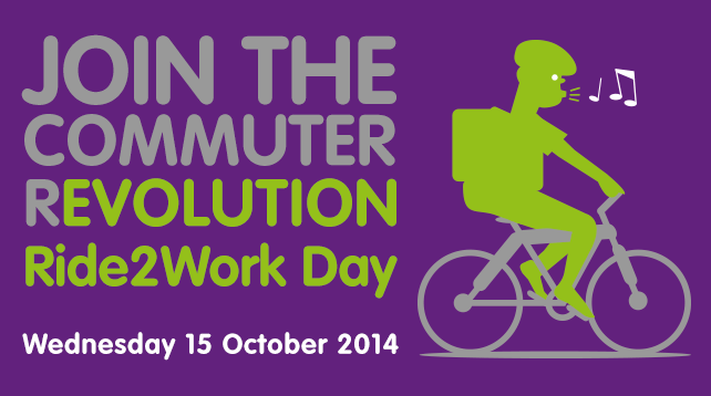 Ride2Work Day: Wednesday 15 October, 2014