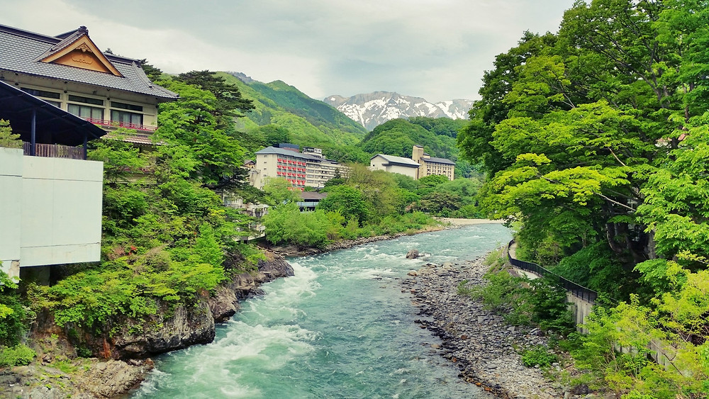 Fresh mountain scenery