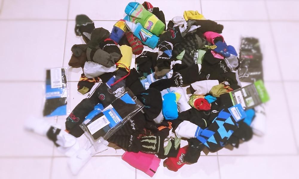 A mountain of socks!