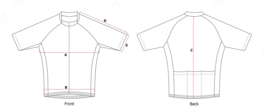 Jersey Size Template