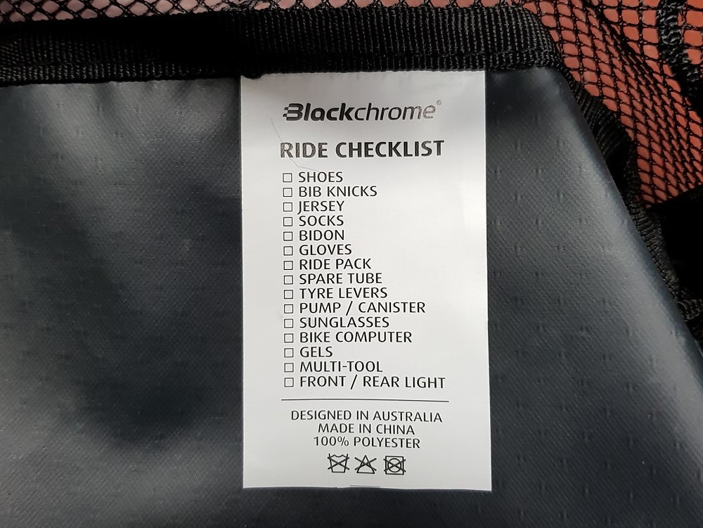 A very handy ride checklist included.