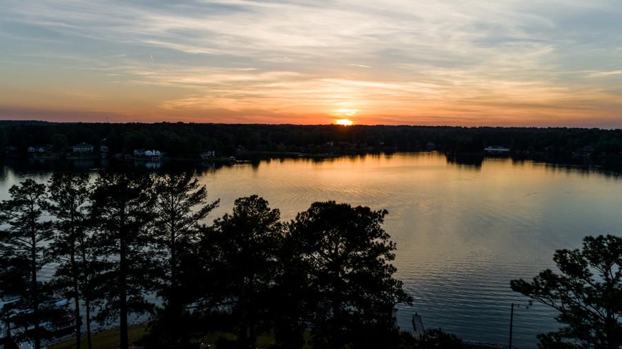Sunset over Treasure Lake