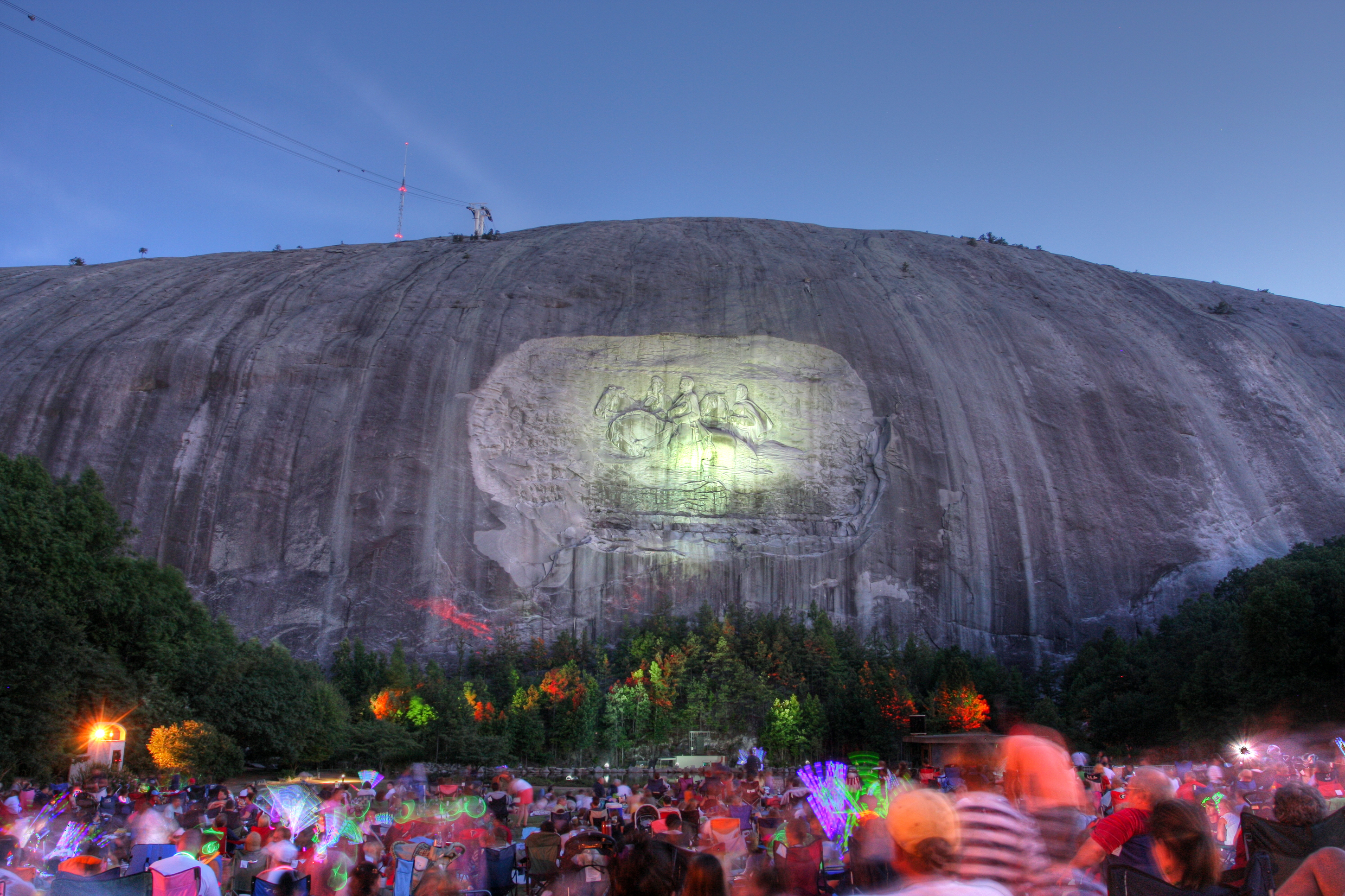 fireworks at Stone Mountain in Atlanta