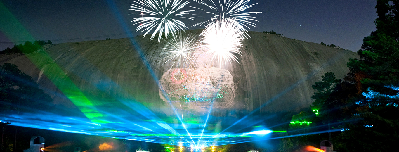 Laser show at Stone Mountain