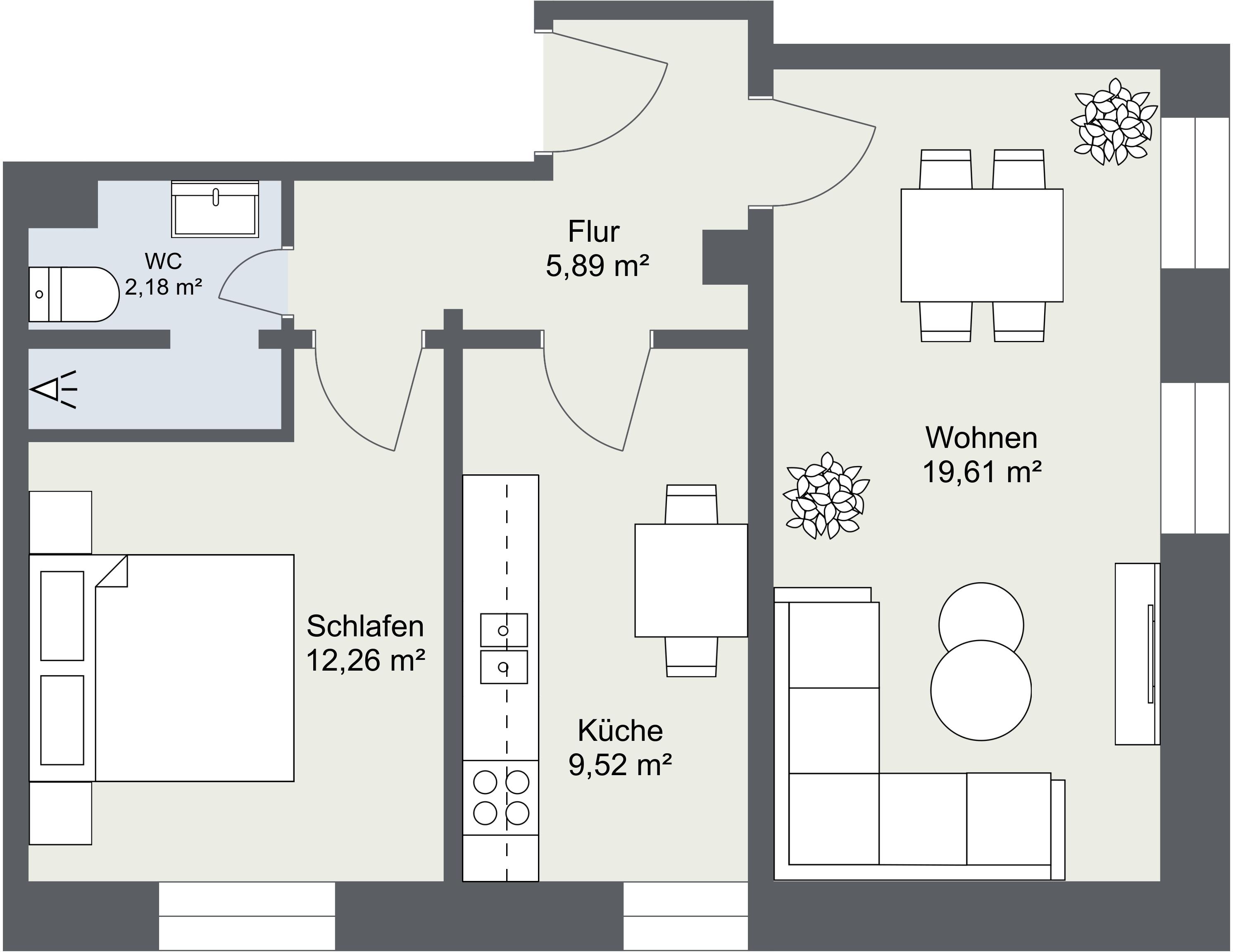 Grundriss Fewo 2 Moselhaus Uferallee Bernkastel-Kues (Wehlen)