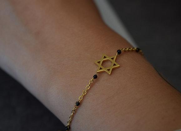 Bracelet ETOILE - acier inoxydable doré