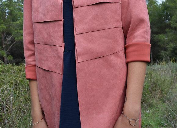 Veste suedine simple - taille unique