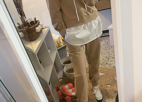 Ensemble de survêtement chemise beige