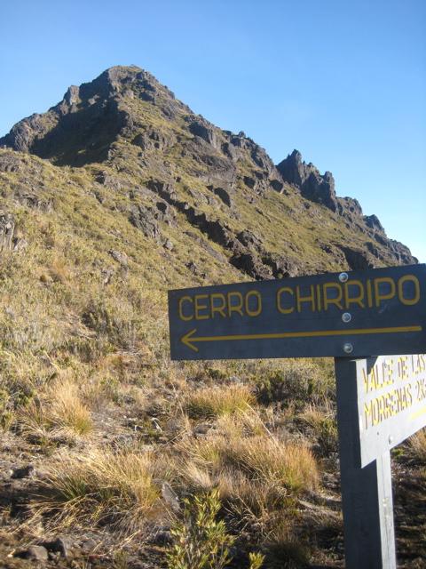 The pyramid of Chirripo