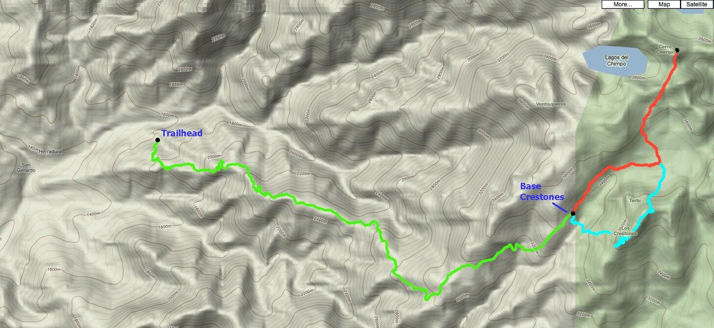 chirripo elevation map