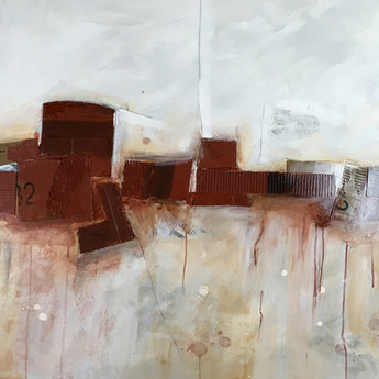 """Rust Belt 36""""x48"""" Acrylic and mixed media on gallery wrapped canvas"""
