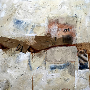 "Archaeosphere #5 24""x24"" Acrylic and mixed media on gallery wrapped canvas"