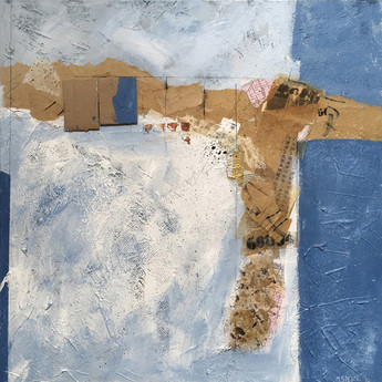 """Archaeosphere #2 24""""x24"""" Acrylic and mixed media on gallery wrapped canvas"""