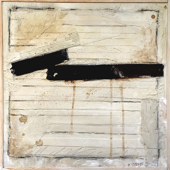 """History of Rust 16""""x16"""" Acrylic and mixed media on wood panel"""