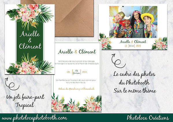 PHOTOLOCA FAIRE PART ET TEMPLATE TROPICA