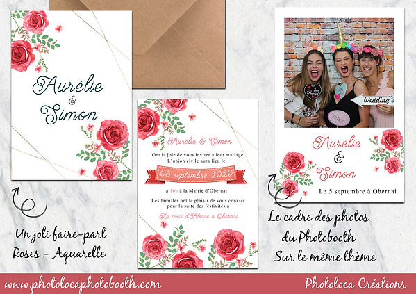 PHOTOLOCA FAIRE PART ET TEMPLATE ROSES R