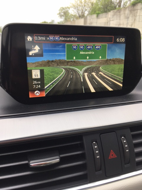 Mazda6 realistic nav display!