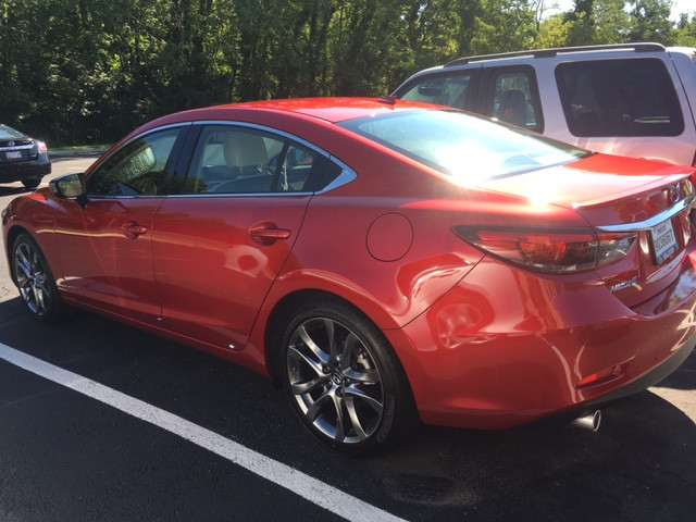 Full view of the sleek & stylish 2016 Mazda6 Grand Touring sedan.