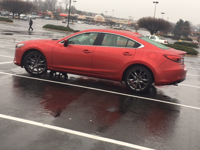 The Mazda6 even looks good in the rain (lol)!