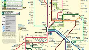 マレーシア:KL地域の路線図と電車の利用方法