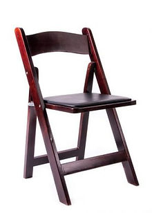 Mahogany-Wood-Folding-Chairs-with-Black-