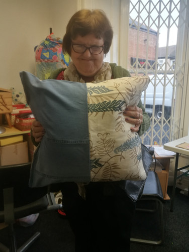 Jill's handmade pillow