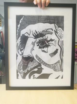 Paul's Framed Pencil Drawing