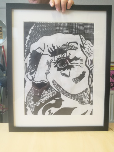 Paul's Framed Pencil Drawing