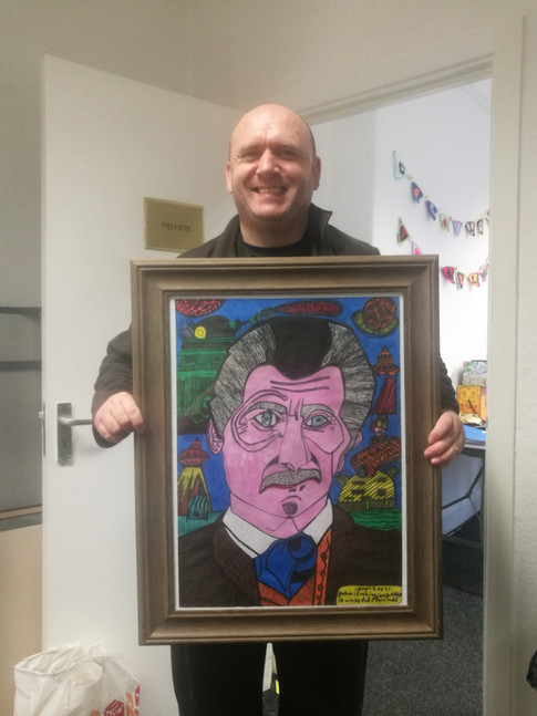 Paul with his Dr.Who drawing