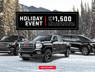 Seaway GM Holiday Event Promotions and Specials in Cornwall